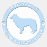 Adopte a los pegatinas de un border collie