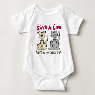 Adopte a un bebé sin hogar del mascota body para bebé