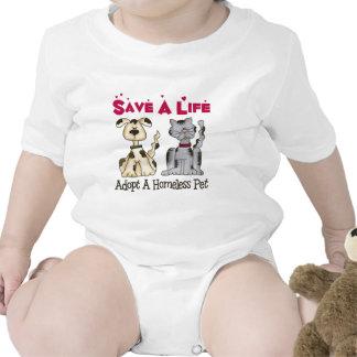 Adopte a un bebé sin hogar del mascota traje de bebé