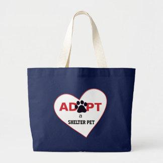Adopte a un mascota del refugio bolsa
