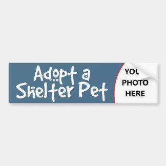 Adopte a un mascota del refugio etiqueta de parachoque