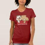 Adopte a un mascota del refugio camisetas
