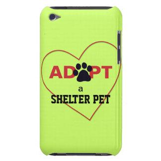 Adopte a un mascota del refugio barely there iPod coberturas