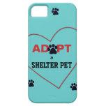 Adopte a un mascota del refugio iPhone 5 carcasa