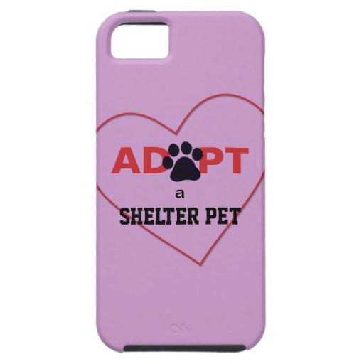 Adopte a un mascota del refugio iPhone 5 funda