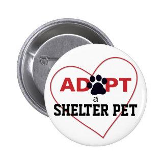 Adopte a un mascota del refugio pin