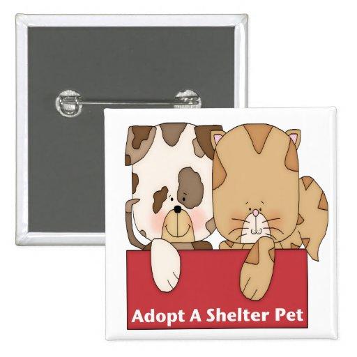 Adopte a un mascota del refugio pins