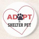 Adopte a un mascota del refugio posavaso para bebida