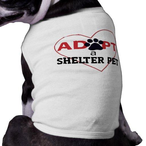 Adopte a un mascota del refugio ropa perro