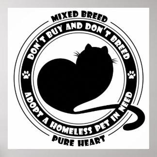Adopte a un mascota en necesidad póster