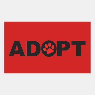 Adopte a un mascota etiqueta