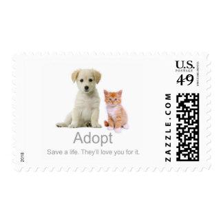 adopte a un mascota sello