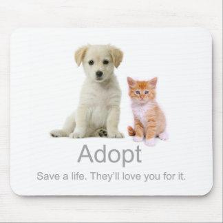 adopte a un mascota alfombrillas de raton