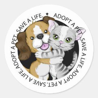 Adopte a un pegatina del mascota