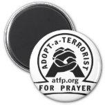 Adopte a un terrorista para el rezo imán redondo 5 cm