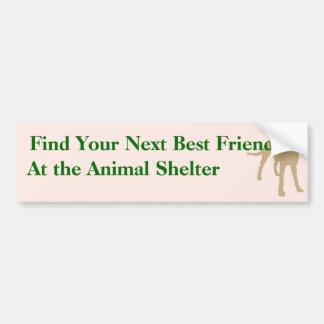 Adopte a una pegatina para el parachoques 5 del am etiqueta de parachoque