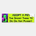 Adopte a una pegatina para el parachoques del extr etiqueta de parachoque