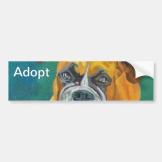 Adopte a una pegatina para el parachoques del perr pegatina para auto