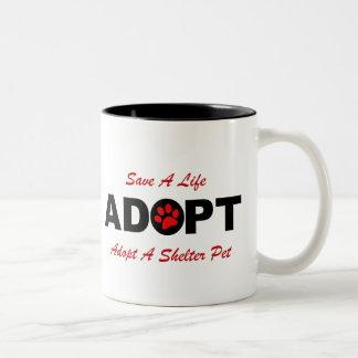 Adopte (ahorre una vida) tazas de café