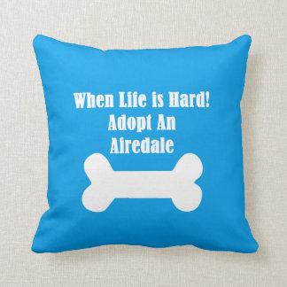 Adopte Airedale Cojín Decorativo