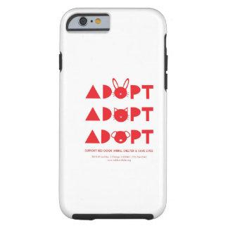 ¡Adopte! caso del iPhone 6 Funda De iPhone 6 Tough