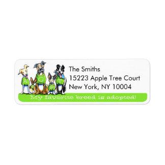 Adopte el Apagado-Correo Art™ Tagline verde de los Etiqueta De Remitente