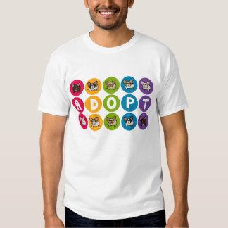 Adopte el arco iris Frenchie Camisas
