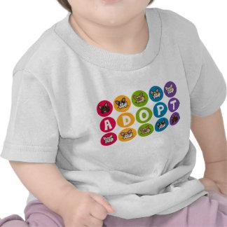 Adopte el arco iris Frenchie Camiseta