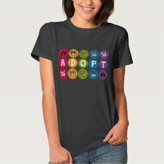 Adopte el arco iris Frenchie Remera