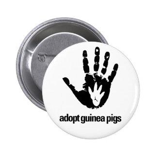 Adopte el botón de los conejillos de Indias - cone Pin