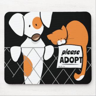 Adopte el remiendo y Rusty™ de los mascotas Alfombrilla De Raton
