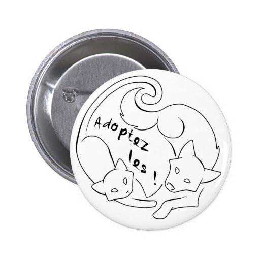 ¡Adopte el! WHITE Pins