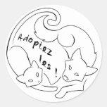 ¡Adopte el! WHITE Stickers