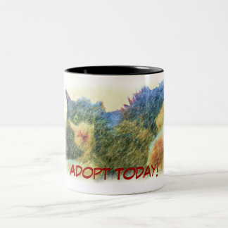 ¡Adopte hoy! Taza Dos Tonos