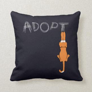 Adopte la adopción del mascota de Rusty™ de los ga Cojin