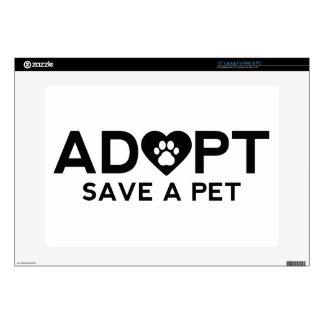 Adopte la reserva un mascota portátil calcomanía