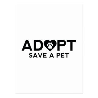 Adopte la reserva un mascota postales