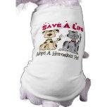 Adopte la ropa de un perro casero de los desampara camiseta de mascota