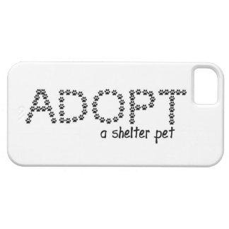 Adopte las patas de un mascota del refugio iPhone 5 Case-Mate carcasas