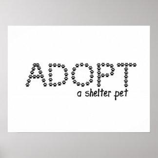 Adopte las patas de un mascota del refugio impresiones