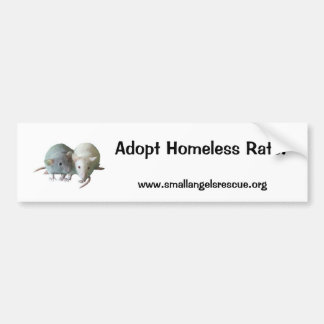 ¡Adopte las ratas sin hogar! Pegatina Para Auto