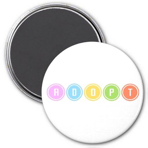 Adopte los círculos imán para frigorífico