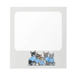 Adopte los gatos del refugio blocs de notas