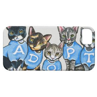 Adopte los gatos del refugio funda para iPhone SE/5/5s
