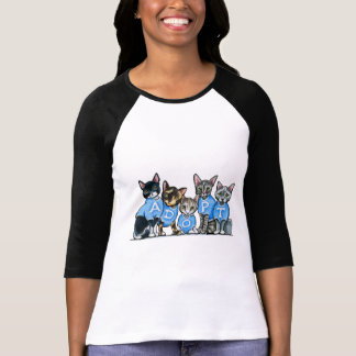 Adopte los gatos del refugio playera