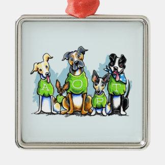 Adopte los perros del refugio que las camisetas adornos de navidad