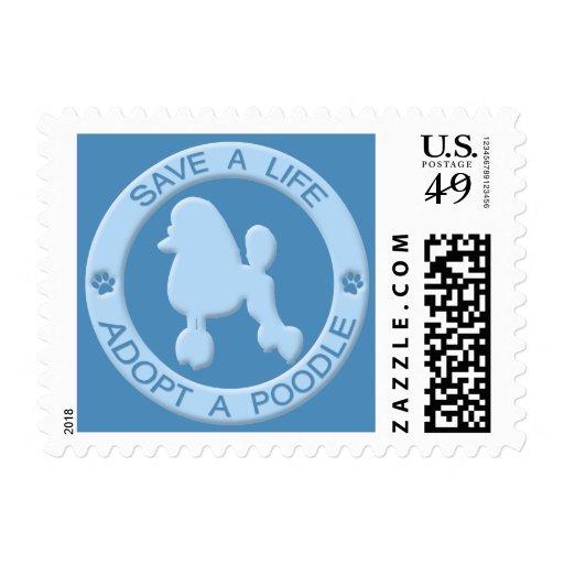 Adopte los sellos del caniche