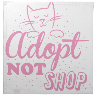 adopte no la tienda: pique el gato servilletas de papel