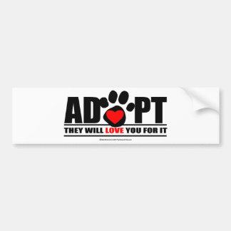 Adopte Pawprint Etiqueta De Parachoque
