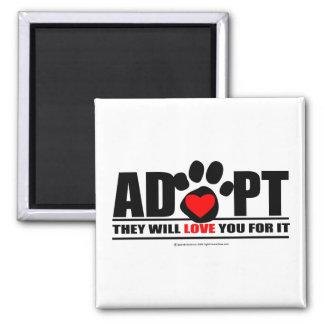 Adopte Pawprint Imanes Para Frigoríficos